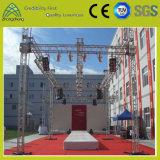 Проект представления этапа покрывает алюминиевую ферменную конструкцию квадрата Spigot