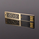 Movimentação dourada do flash do USB do estilo original (UL-M013)