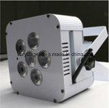 6*10W RGBW 4 en 1 IGUALDAD plana DJ de la batería sin hilos del LED se encienden