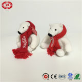 Coca-Cola White di marca con Scarf Plush Stuffed Party Bear Toy