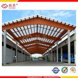 Strato ondulato del tetto del magazzino del policarbonato trasparente