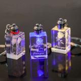 安い水晶キーホルダー、結婚式の記念品のためのガラスキーホルダー