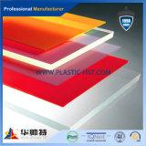 Feuille acrylique de plexiglass de couleur de vente chaude