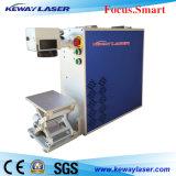 Máquina de escritorio de la etiqueta de plástico del laser de la fibra para la marca del metal