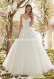 Morileeの恋人の細い肩ひものサテンのテュルのプロムのウェディングドレス(夢100046)