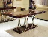 上の大理石の現代カシのダイニングテーブルはオンラインA8070を設計する