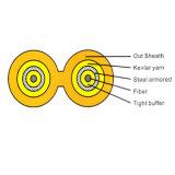 De professionele Fabriek van de Productie van de Kabel van de Optische Vezel van de Enige die Kabel van Armoring van de Kern wijd in het systeem van de Controle van de Stroom, Communicatie van het Verkeer systeem wordt gebruikt
