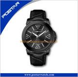 Reloj de los productos de China del oro de Rose de la marca de fábrica de los hombres famosos de las señoras con la correa de cuero