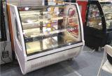 Zwei Regal-Bäckerei-Bildschirmanzeige-Gebäck-Kühlvorrichtung-Schaukasten mit Embraco Kompressor