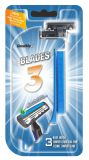 Qualität Triple Blade Disposable Shaving Razor (4PCS/card)