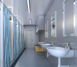 Chambre préfabriquée de conteneur pour la pièce de douche et le projet publics de toilette