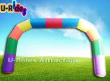 オープンのための虹カラーInflatableのアーチ道