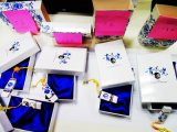 (Dragões) USB azul e branco 2.0 8g
