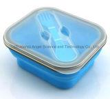 Do produto comestível do quadrado do silicone de Bento da caixa de silicone da borracha caixa 100% de almoço 800ml