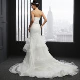 Strapless Mermaid Sleeveless Wedding Dress (Q-022)