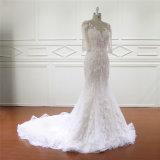 3/4 платьев Mermaid втулки точным Appliqued качеством Bridal