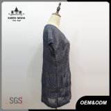 Vestito dalla signora Short Sleeve Casual Knitted
