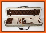 고급 PU 가죽 장방형 모양 거품 바이올린 상자