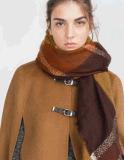 새로운 형식 유럽식 숄 격자 줄무늬 진한 색 스카프