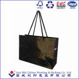 Ecoの友好的な習慣はロゴプリントが付いているショッピングギフトの紙袋を印刷した