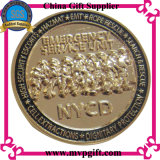 pièce de monnaie en métal 3D pour le cadeau de pièce de monnaie d'enjeu de souvenir