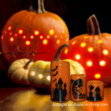 LEIDENE van de douane Gele Kaars voor Decoratie Halloween