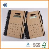 A5 Kraft Paper Spiral Notebook con Pen e Calculator, Promotional Notebook
