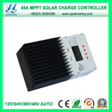 45A 12/24/36/48V Real MPPT Solar Charge Controller (QW-MT4845A)