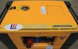 Type carré alarme inférieure de pétrole de générateur diesel silencieux 4.5 kilowatts - 5kw