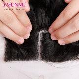 上のClosure 4X4ブラジルのVirgin Hair Closure