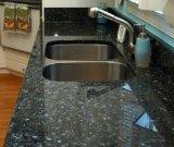 Controsoffitto di pietra naturale all'ingrosso della cucina del granito della perla dell'azzurro di perla di Giallo