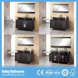 O dissipador americano do banheiro com a bacia e o metal da placa de vidro paga (BV154W)