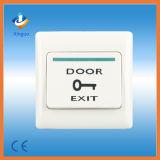 Tasto dell'uscita del sistema di controllo di accesso di presenza di tempo dell'impronta digitale