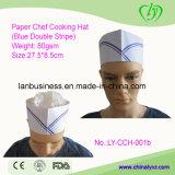 Chapeau de papier remplaçable de fourrage (double bande bleue)
