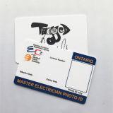Carte d'élève sèche d'IDENTIFICATION RF sans contact d'identification d'affaires de PVC