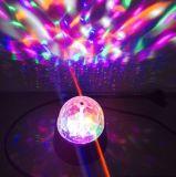 bulbo del disco LED de la etapa de la luz del partido de 3W RGB mini