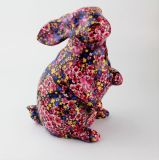 Banco Piggy cerâmico colorido da forma Home do coelho da decoração