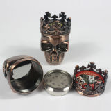 Rectifieuse de fumage en métal principal crânien de modèle de qualité
