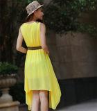 O OEM presta serviços de manutenção ao Chiffon longo coreano simples ocasional barato do vestido (50219)