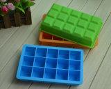 Bandejas Shaped do cubo de gelo do silicone do quadrado do produto do agregado familiar da alta qualidade