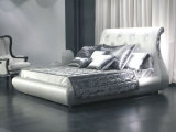 2016 neue Auslegung-Hotel-Bettenitalienisches Faux-Leder-Bett-Königin-Bett des Ansammlungs-Bett-heiße Verkaufs-Bett-Ls-413