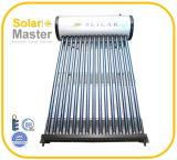 Forçado - calefator de água solar da circulação com tubulação de calor