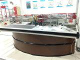 Caisse de sortie de caissier de supermarché d'acier inoxydable