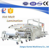 Machine feuilletante de tissu de colle automatique de Hotmelt