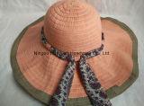 Sombrero de la cinta Floopy estilo de la playa del borde grande