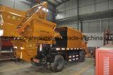 Qjhbt-50b de diesel & de Elektrische Vrachtwagen zetten de Pomp van de Concrete Mixer op