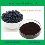 Extrato preto secado volume do pó da casca do feijão de soja da alta qualidade