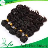 O cabelo humano ondulado natural da classe superior empacota a trama do cabelo do Virgin