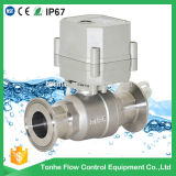 maneira 230V 2 válvula de esfera sanitária rápida elétrica da válvula de esfera do aço inoxidável de um controle elétrico de 1 polegada (T25-S2-C-Q)