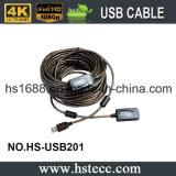 30 mètres d'USB 2.0 de rallonge à grande vitesse d'Active